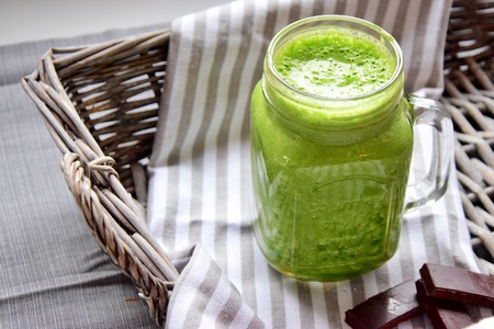 Green smoothie with pineapple and ginger