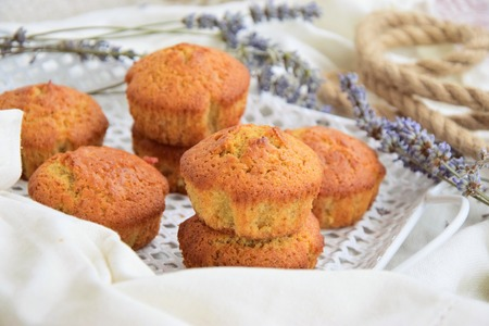 Rum muffins with jam
