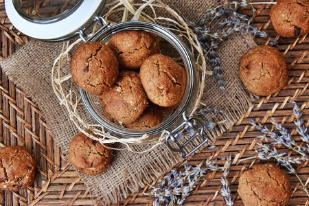 Wholegrain carob cookies