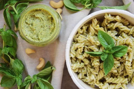 Pesto genovese with cashew nuts